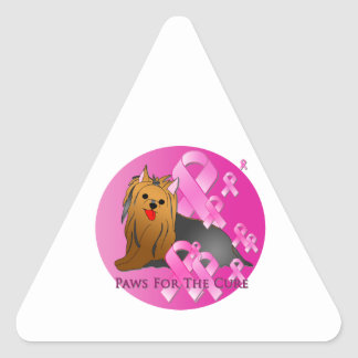 Yorkshire Terrier Pink Ribbon Sticker