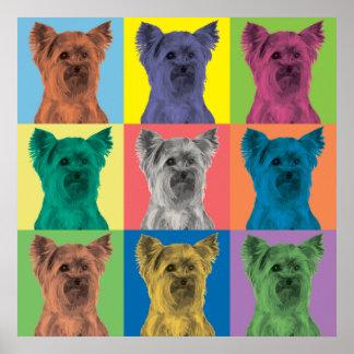 Yorkshire Terrier Pop-Art Ornament Poster