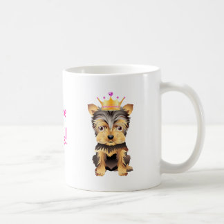Yorkshire Terrier Princess Dog Coffe Mug Gift