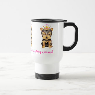 Yorkshire Terrier Princess Dog Coffe Travel Mug