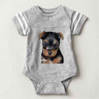 Yorkshire Terrier Puppy Art Baby Bodysuit