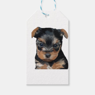 Yorkshire Terrier Puppy Art Gift Tags