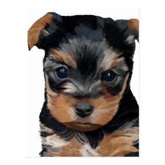 Yorkshire Terrier Puppy Art Postcard