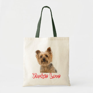 Yorkshire Terrier Puppy Dog Red Yorkie Love Tote Bag
