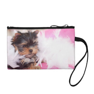 Yorkshire Terrier Puppy Fashion Purse Change Purse