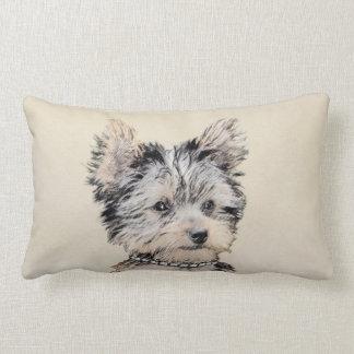 Yorkshire Terrier Puppy Lumbar Pillow
