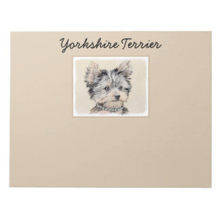 Yorkshire Terrier Puppy Notepad