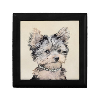 Yorkshire Terrier Puppy Painting Original Dog Art Gift Box