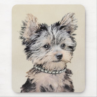 Yorkshire Terrier Puppy Painting Original Dog Art Mouse Pad