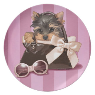 Yorkshire Terrier Puppy Party Plates