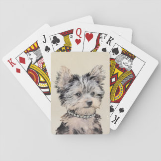 Yorkshire Terrier Puppy Playing Cards
