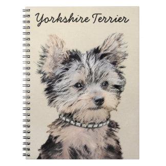 Yorkshire Terrier Puppy Spiral Notebook