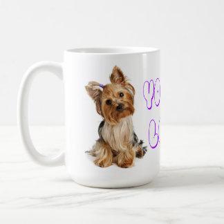 Yorkshire Terrier Puppy Turquoise Polka Dot Mug