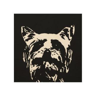"Yorkshire Terrier Stencil Wood 8""x8"" Wall Art"