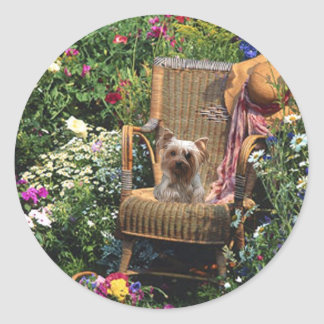 Yorkshire Terrier Sticker Garden