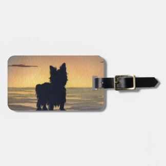 Yorkshire Terrier Sunset Luggage Tag