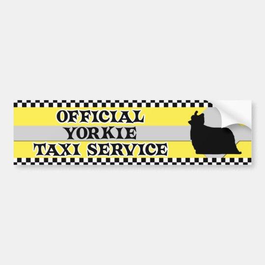 Yorkshire Terrier Taxi Service Bumper Sticker