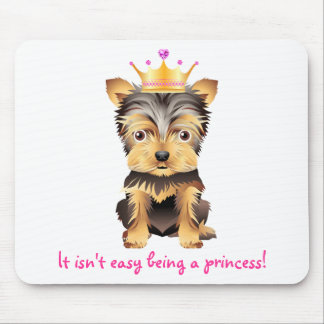 Yorkshire Terrier Toy Dog Princess Gift Mouse Pad