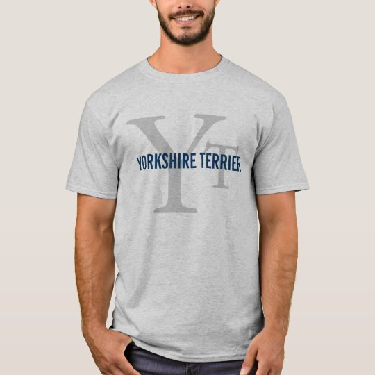 Yorkshire Terrier (Yorkie) Breed Monogram Design T-Shirt