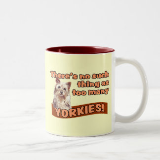YORKSHIRE TERRIERS Two-Tone COFFEE MUG