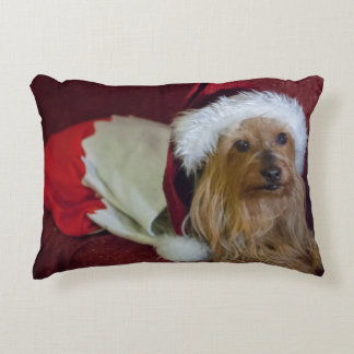 Yorkshire (yorkie)/Silky Terrier Christmas Pillow