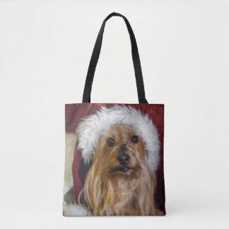 Yorkshire (yorkie) / Silky Terrier Christmas Tote