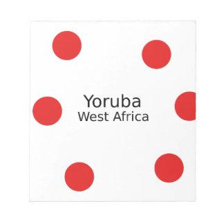 Yoruba Design (West Africa Language) Notepad