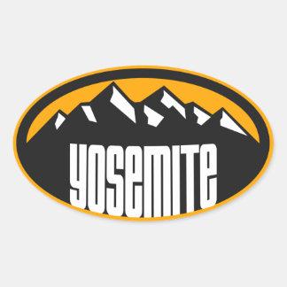 Yosemite Big Mountain Oval Oval Sticker