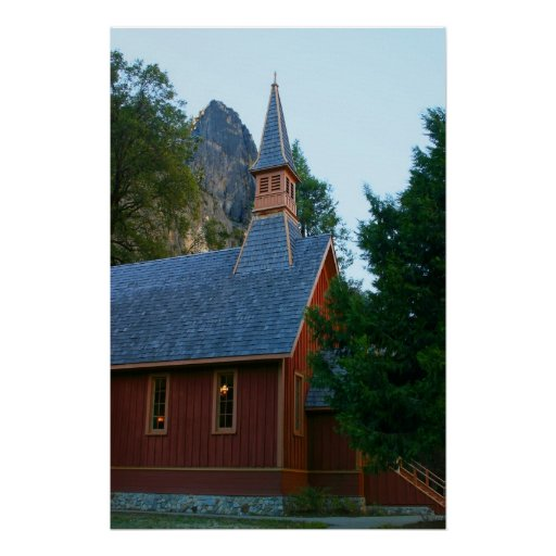 Yosemite Chapel Canvas Posters