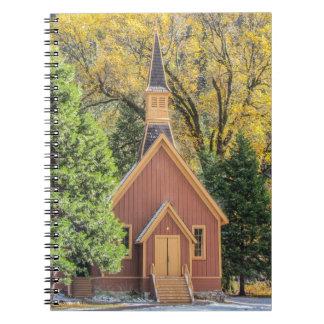 Yosemite Chapel In Autumn Notebook