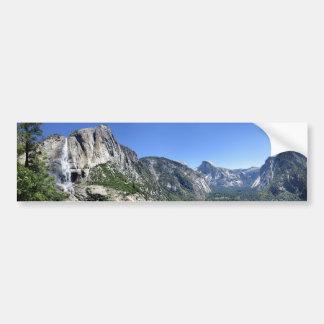Yosemite Falls and Half Dome from Oh My Gosh Point Bumper Sticker
