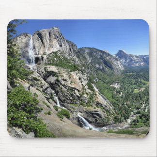 Yosemite Falls and Half Dome from Oh My Gosh Point Mouse Pad