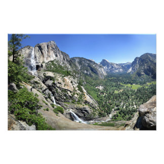 Yosemite Falls and Half Dome from Oh My Gosh Point Photo Print