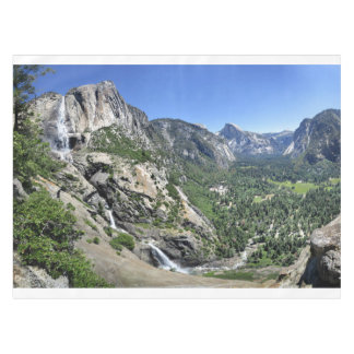 Yosemite Falls and Half Dome from Oh My Gosh Point Tablecloth