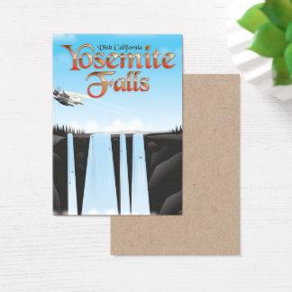 Yosemite Falls California travel poster Business Card