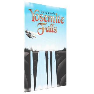 Yosemite Falls California travel poster Canvas Print