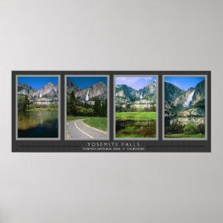 Yosemite Falls Collage Poster