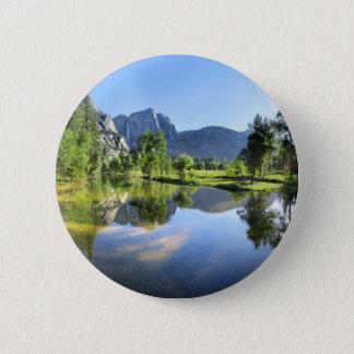 Yosemite Falls from Merced River - Yosemite Valley 2 Inch Round Button