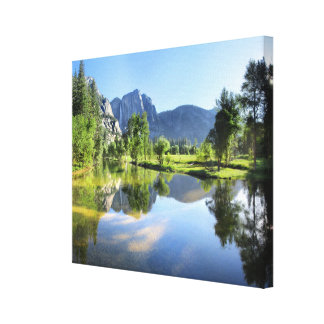 Yosemite Falls from Merced River - Yosemite Valley Canvas Print