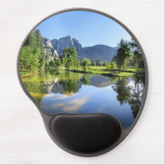 Yosemite Falls from Merced River - Yosemite Valley Gel Mouse Pad