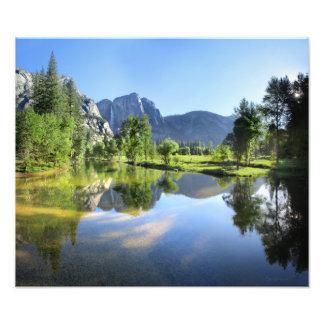 Yosemite Falls from Merced River - Yosemite Valley Photo Print
