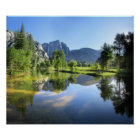 Yosemite Falls from Merced River - Yosemite Valley Poster