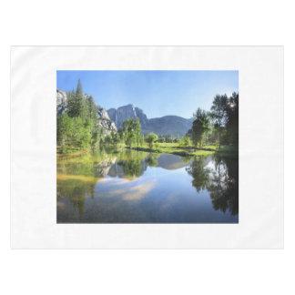 Yosemite Falls from Merced River - Yosemite Valley Tablecloth
