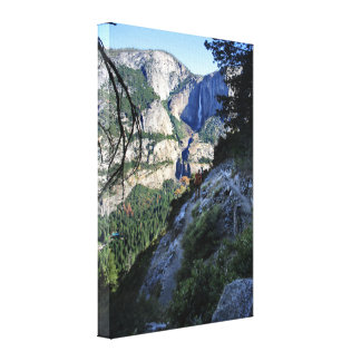 Yosemite Falls from the Four Mile Trail - Yosemite Canvas Print