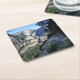 Yosemite Falls from the Four Mile Trail - Yosemite Square Paper Coaster