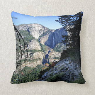 Yosemite Falls from the Four Mile Trail - Yosemite Throw Pillow