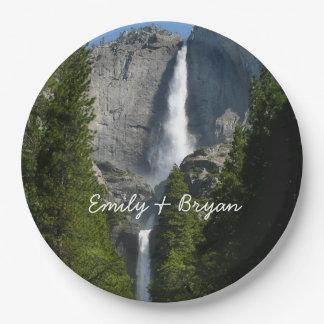 Yosemite Falls II from Yosemite National Park 9 Inch Paper Plate