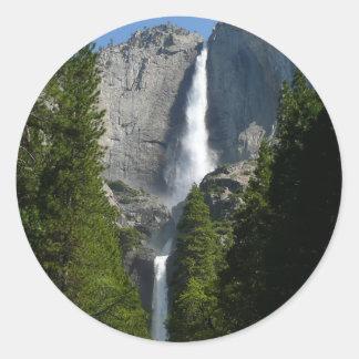 Yosemite Falls II from Yosemite National Park Round Sticker