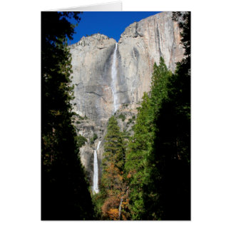 Yosemite Falls in November (Custom Message) Card