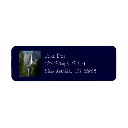 Yosemite Falls Return Address Label